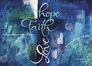 Postkarten: Hope - Faith - Love, 4 Stück