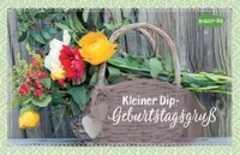 Kräuter-Dip-Postkarte - Kleiner Dip-Geburtstagsgruß