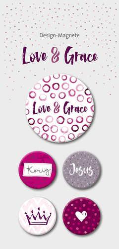 Love & Grace - 5-er-Magnet-Set
