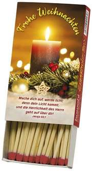 Zündholzbox - Frohe Weihnachten