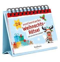 24 rentierstarke Weihnachtsrätsel- Aufstellbuch