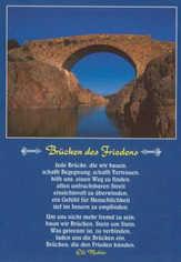 Postkarten: Brücken des Friedens, 12 Stück