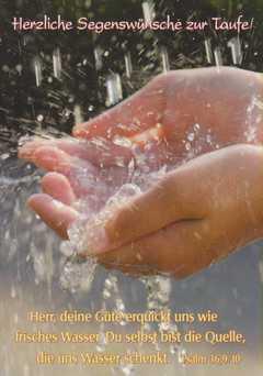 Postkarten Taufe, 6 Stück