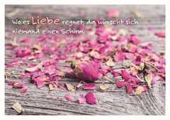 Wo es Liebe regnet - Postkarte