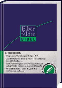 Elberfelder Bibel - mit Schreibrand, ital. Kunstleder dunkelblau
