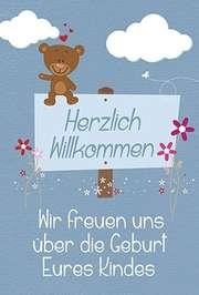Faltkarte: Wir freuen uns über die Geburt