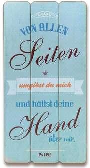 """Holz-Wandbild """"Von allen Seiten umgibst du mich"""""""