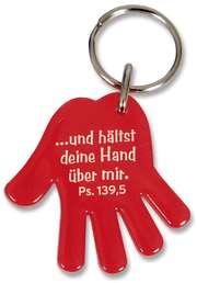 """Schlüsselanhänger """"Hand"""" - rot"""