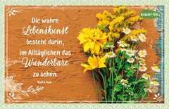 Kräuter-Dip-Postkarte - Die wahre Lebenskunst